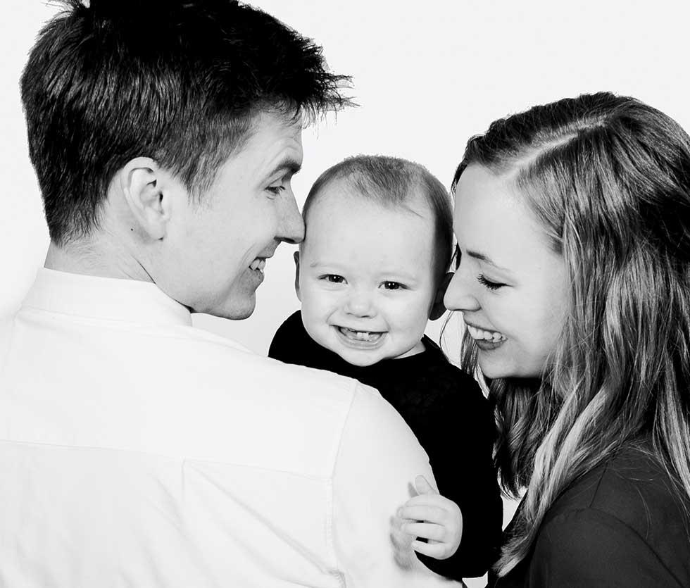 familie foto fra Augustenborg