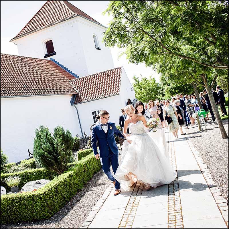 bryllupsfoto kirke Randers
