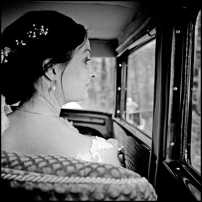 brud i Bryllupsbil Randers