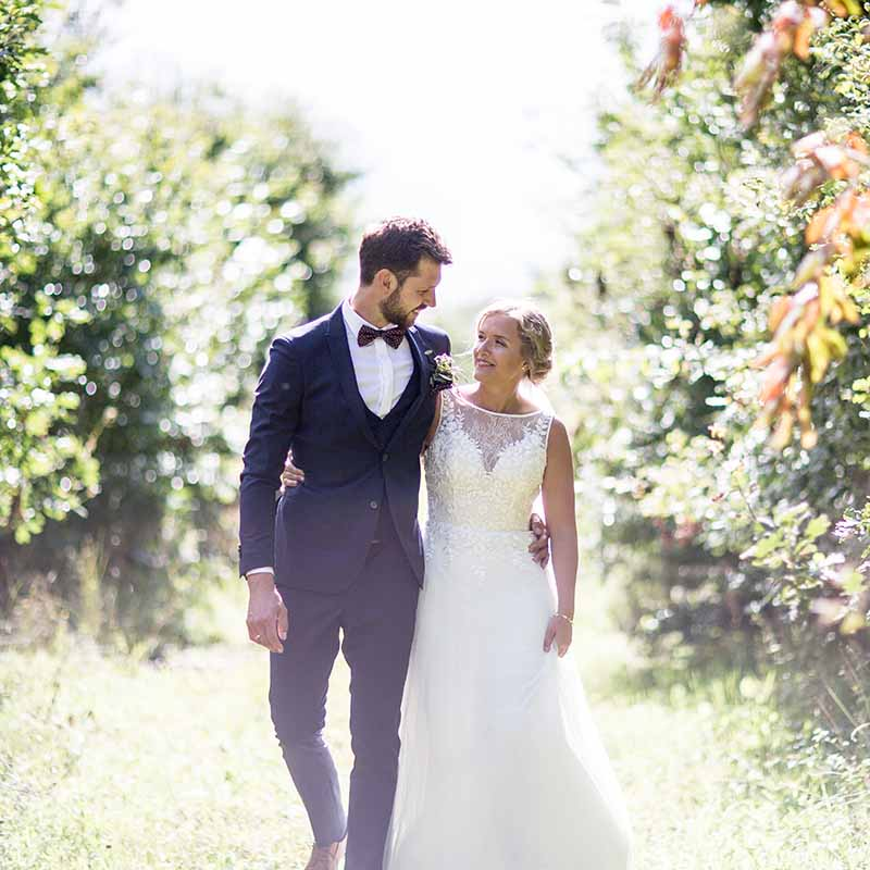 brudeparret i skoven Randers