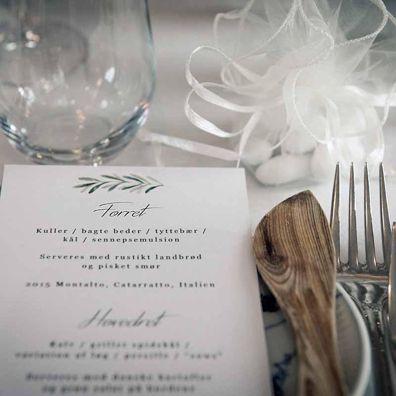 menu til bryllup i Esbjerg